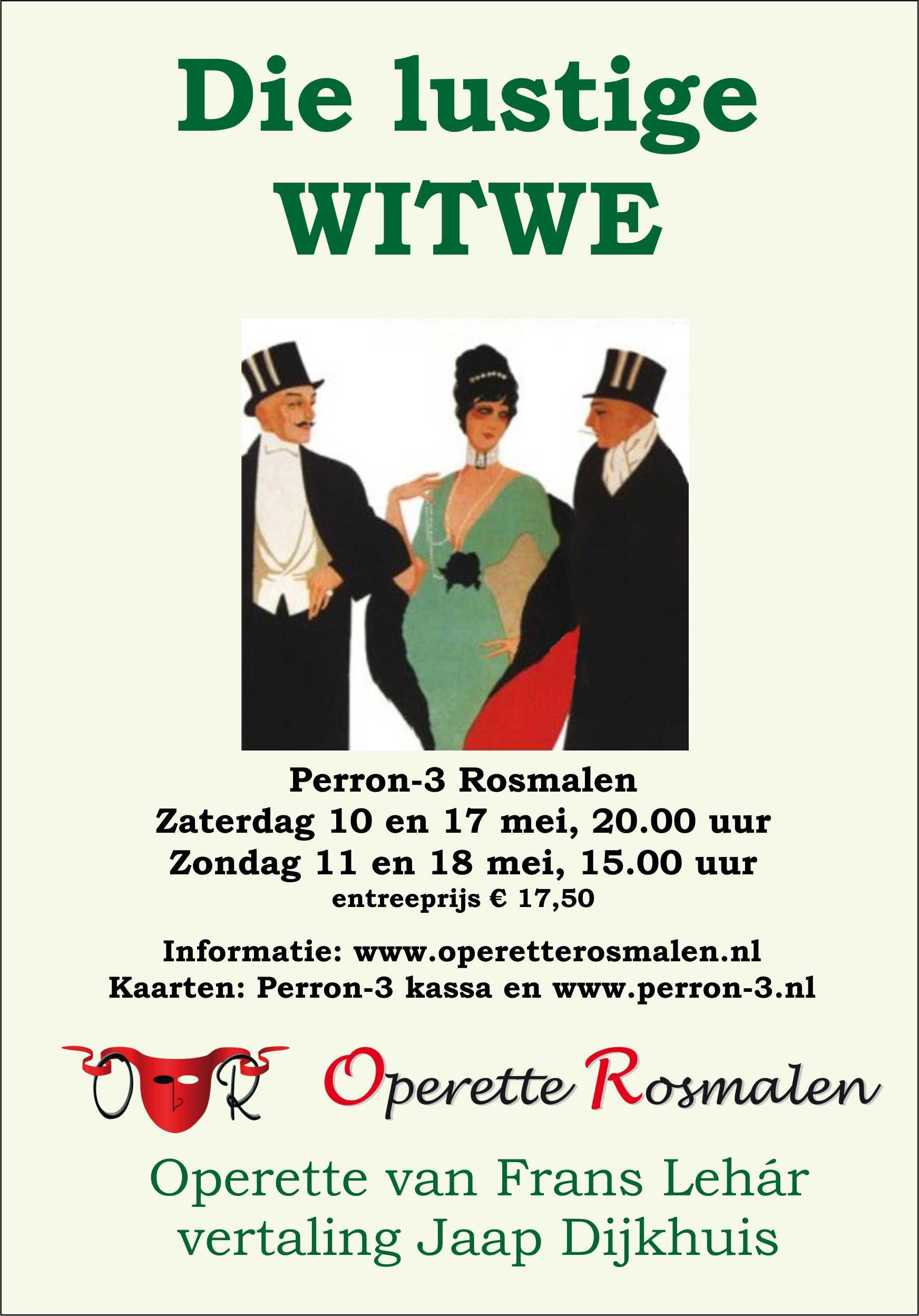 De flyer van 'Die Lustige Witwe'!