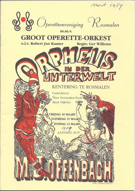 Programmaboekjes Orpheus in der Unterwelt 1989